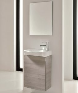 18 Inch Bathroom Vanity Unique Inch Wall Mounted Grey Finish Modern Bathroom Vanity Integrated Décor