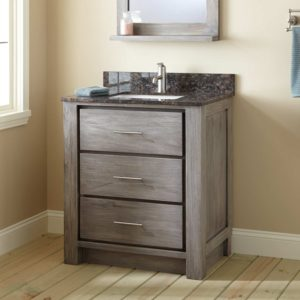 30 Bathroom Vanity Inspirational Venica Teak Vanity for Rectangular Undermount Sink Gray Wash Construction