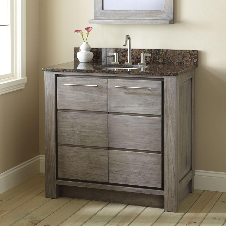 36 Bathroom Vanity Latest Venica Teak Vanity for Undermount Sink Gray Wash Bathroom Decoration