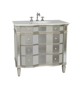 36 Inch Bathroom Vanity with top Fascinating Adelina Inch Mirrored Bathroom Vanity White Carrara Marble Design