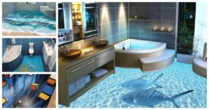 3d Bathroom Floors Stylish Awesome Bathroom 3d Floor Designs Photo