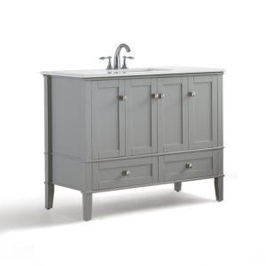 42 Inch Bathroom Vanity Sensational Simpli Home Chelsea Inch Bath Vanity with White Quartz Marble Collection