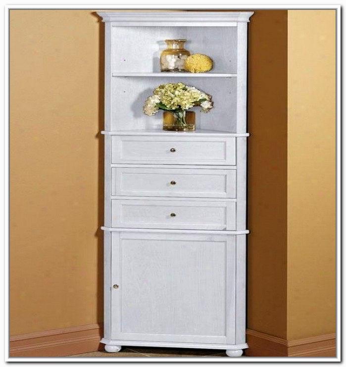 Elegant Bathroom Cabinets: Elegant Bathroom Corner Cabinet Inspiration