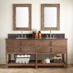 Bathroom Double Vanity Fresh Benoist Reclaimed Wood Double Vanity for Rectangular Gallery