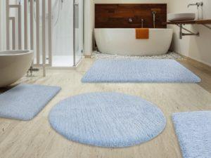 Bathroom Rug Sets Lovely Fluffy Bathroom Rugs Sky Blue Pattern