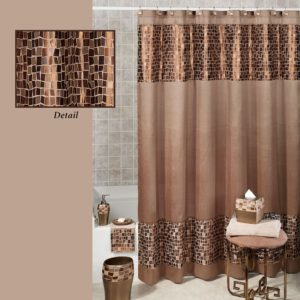 Bathroom Sets with Shower Curtain Lovely Bronze Mosaic Stone Fabric Shower Curtain Decoration