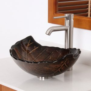 Bathroom Sink Bowls Fantastic Hot Melted and Hand Painted Autumn Leaf Shaped Bowl Vessel Ideas