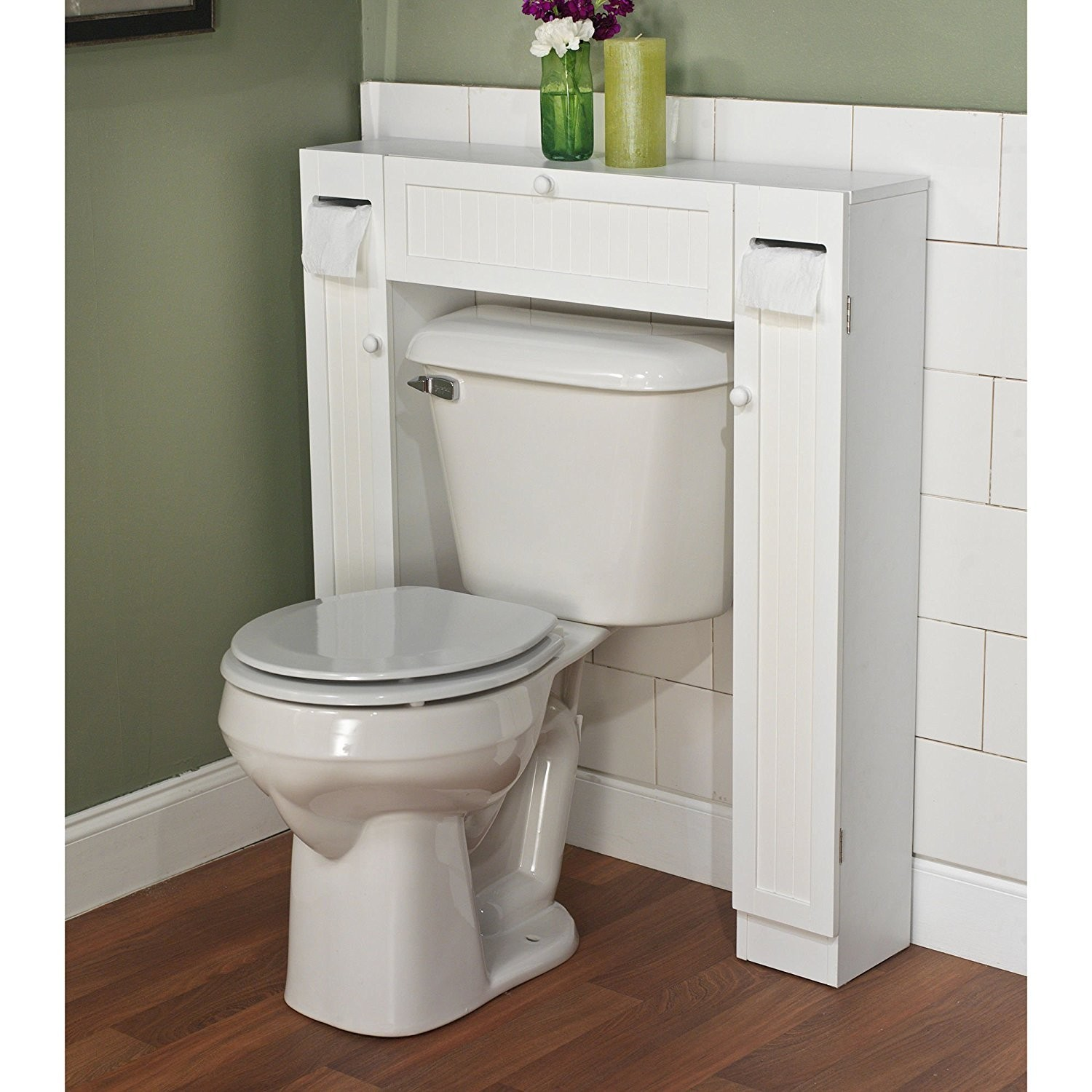 Bathroom Space Saver Over toilet Contemporary Amazon Over the toilet Space Saver by Simple Living 1 Center Image