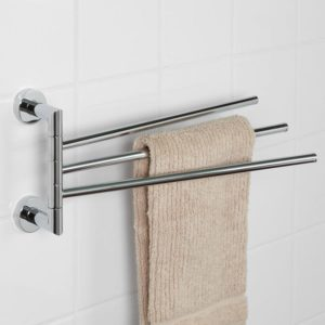 Bathroom towel Rack Lovely Bristow Triple Swing Arm towel Bar Bathroom Image