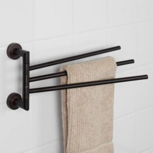 Bathroom towel Racks Finest Bristow Triple Swing Arm towel Bar Bathroom Ideas