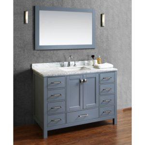 Bathroom Vanities for Sale Modern Buy Vincent Inch solid Wood Single Bathroom Vanity In Charcoal Concept