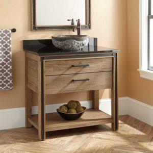 Bathroom Vanity with Sink Inspirational Celebration Vessel Sink Vanity Rustic Acacia Bathroom Concept