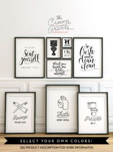 Bathroom Wall Art Excellent Printable Bathroom Wall Art From the Crown Prints On Etsy Lots Wallpaper