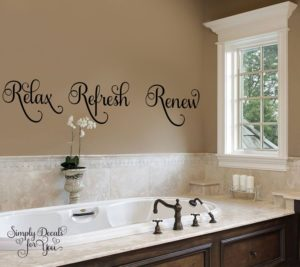 Bathroom Wall Decals Fresh Relax Refresh Renew Bathroom Wall Decal by Simplydecalsforyou Construction
