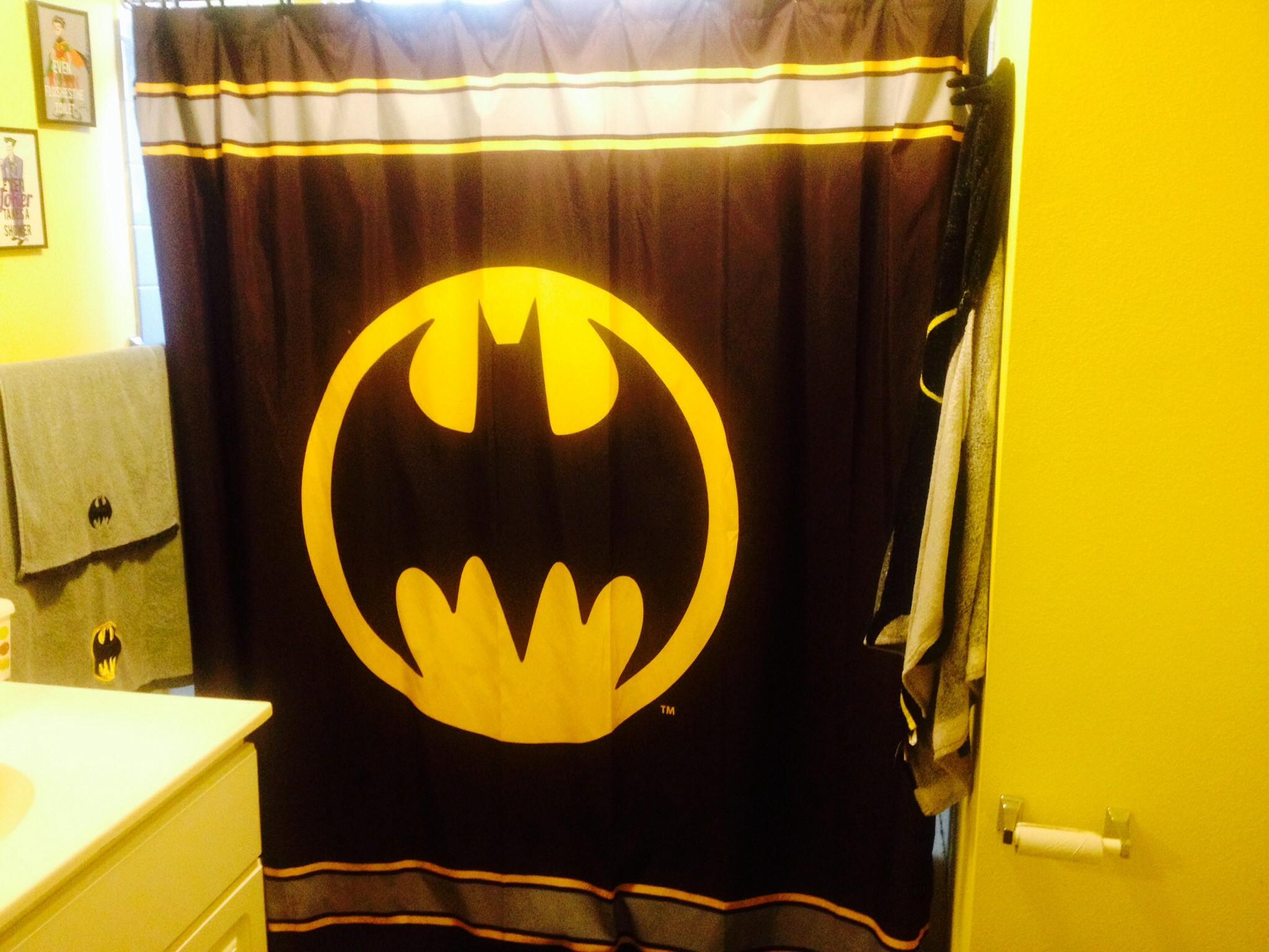 Batman Bathroom Set top Batman Curtains From Target Batman Bathroom Picture