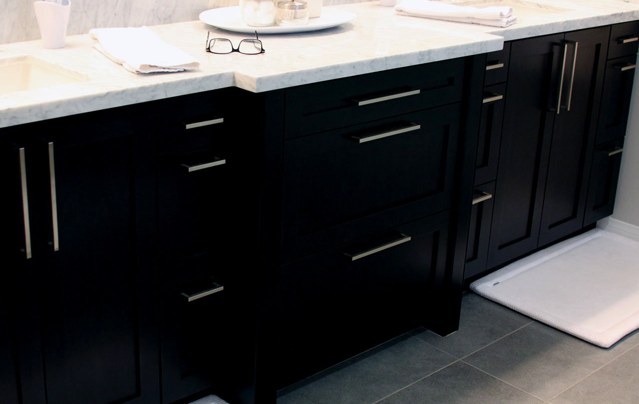 Beautiful Black Bathroom Vanity Portrait Bathroom Design