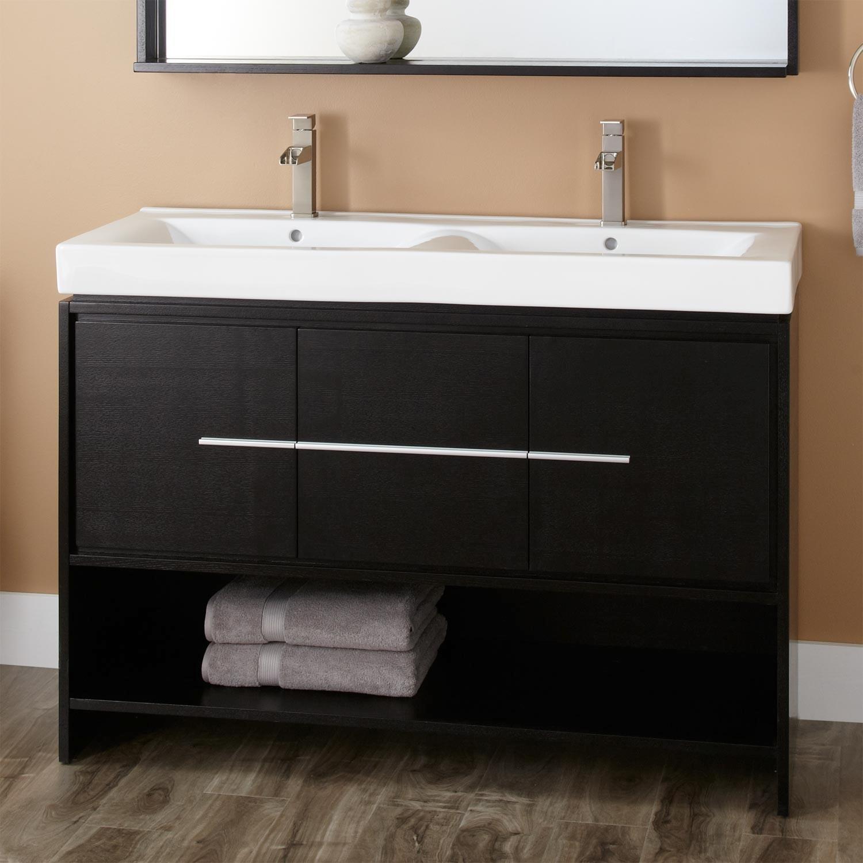 Black Bathroom Vanity Stunning Kyra Double Vanity Black Bathroom Pattern