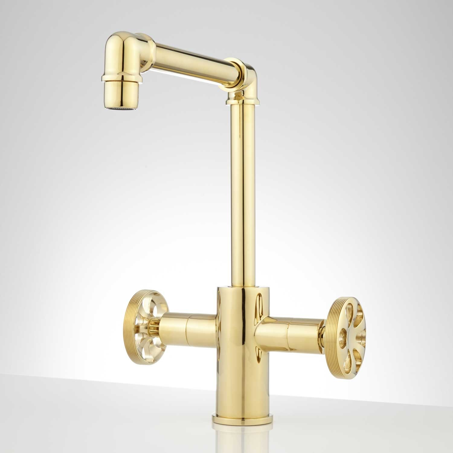 Brass Bathroom Faucets Best Edison Single Hole Dual Handle Brass Bathroom Faucet with Pop Up Decoration