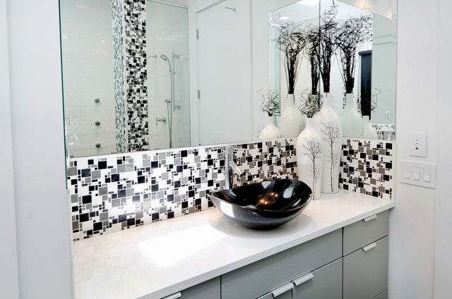 contemporary black and white bathroom tile image-Best Of Black and White Bathroom Tile Inspiration
