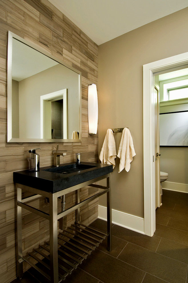 contemporary wood tile bathroom construction-Fantastic Wood Tile Bathroom Ideas