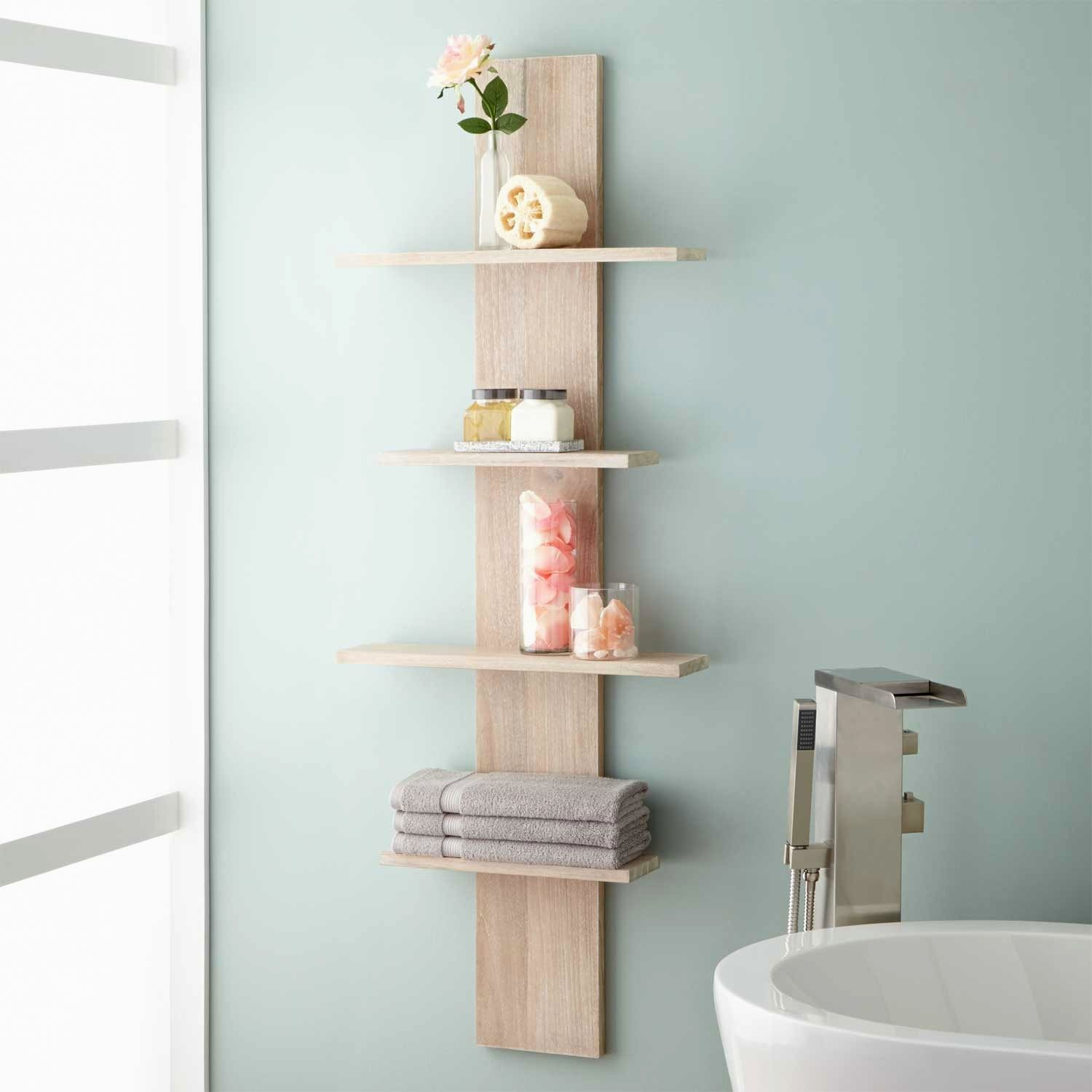 excellent bathroom wall shelves collection-Amazing Bathroom Wall Shelves Construction