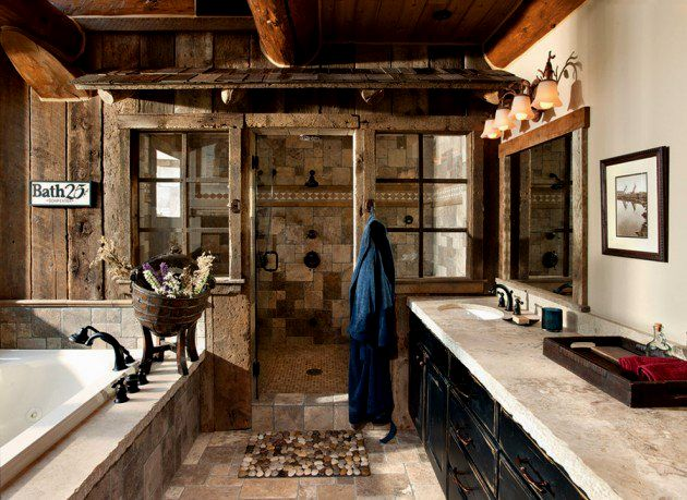 excellent rustic bathroom decor collection-Excellent Rustic Bathroom Decor Photo