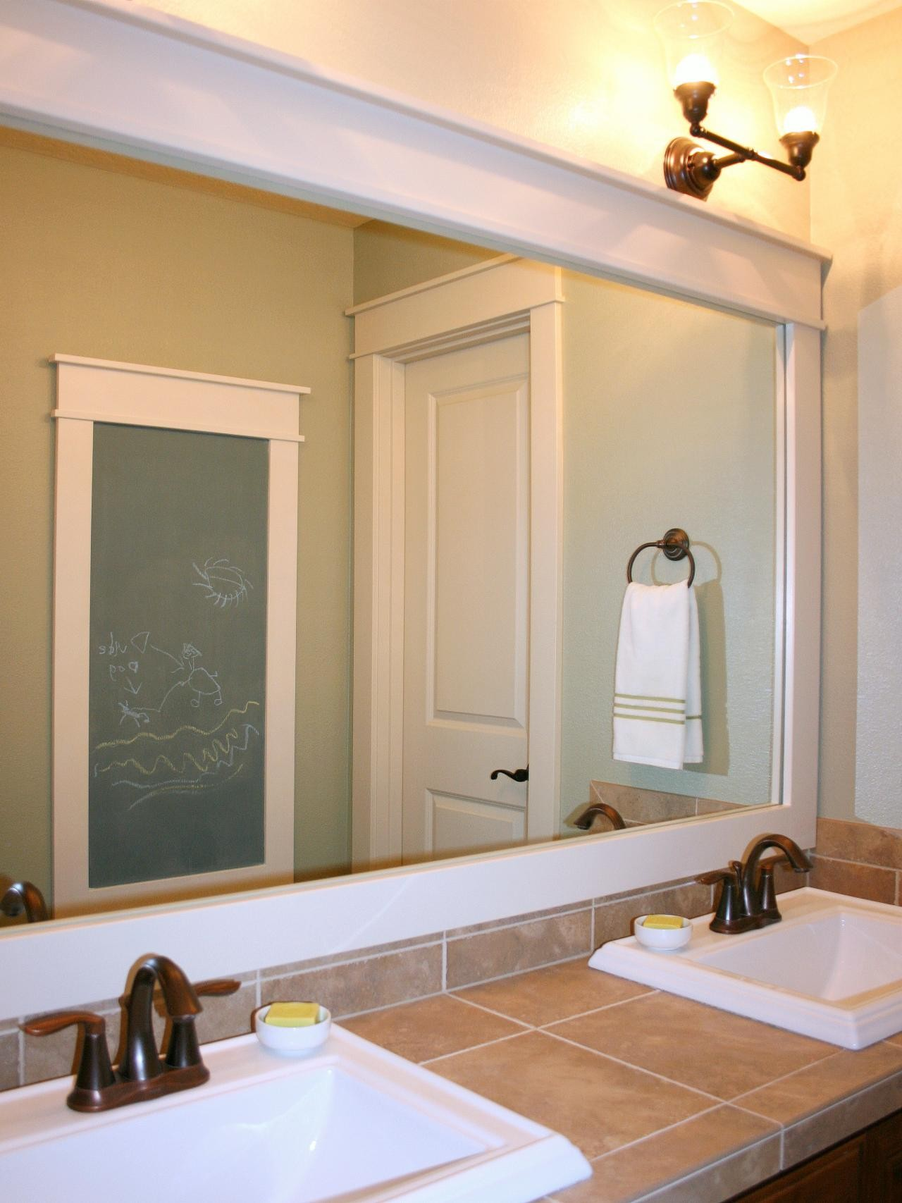 Framed Bathroom Mirrors Amazing How to Frame A Mirror Plan
