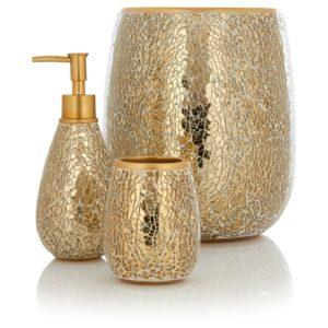 Gold Bathroom Accessories Fancy George Home Accessories Gold Sparkle Portrait