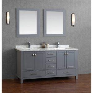 Grey Bathroom Vanity top Buy Vincent Inch solid Wood Double Bathroom Vanity In Charcoal Construction