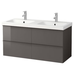 Ikea Bathroom Vanity Terrific Godmorgon Odensvik Wash Stand with 4 Drawers High Gloss Grey Construction