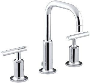 Kohler Bathroom Faucets Wonderful Kohler K 4 Cp Purist Widespread Lavatory Faucet Polished Picture