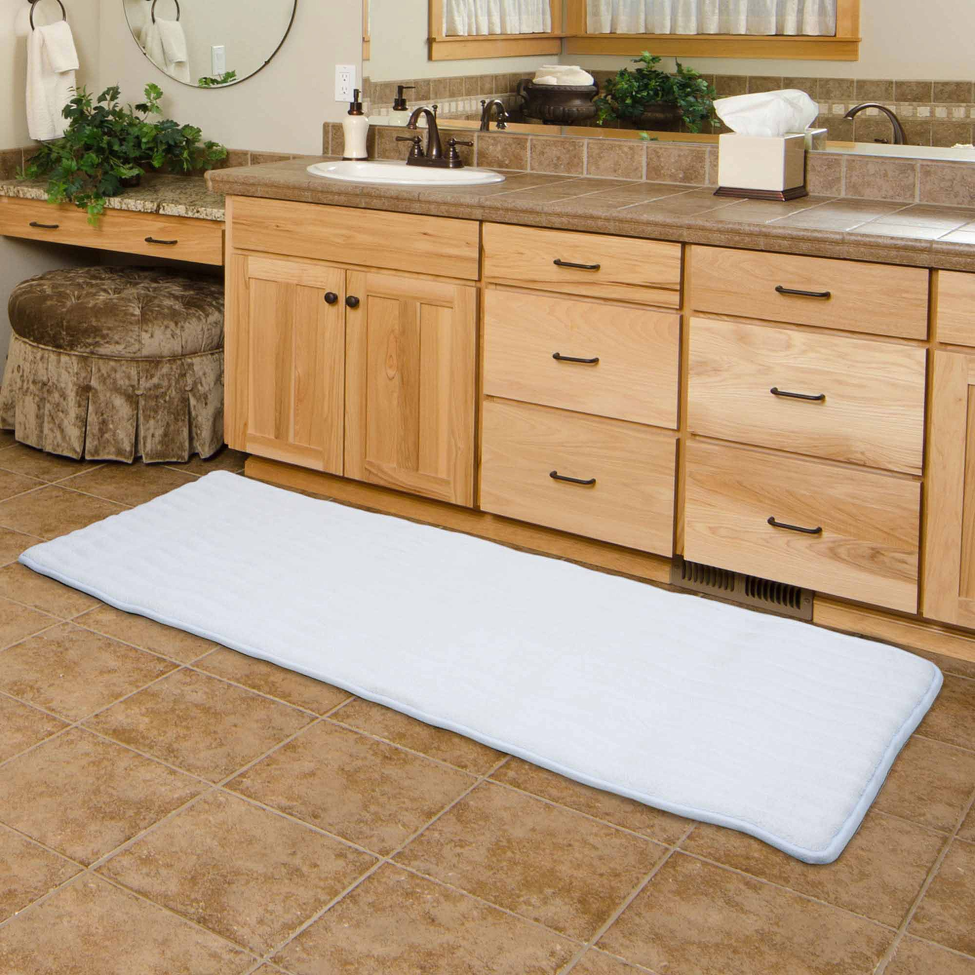Long Bathroom Rugs Fantastic somerset Home Memory Foam Extra Long Bath Mat X Walmart Concept