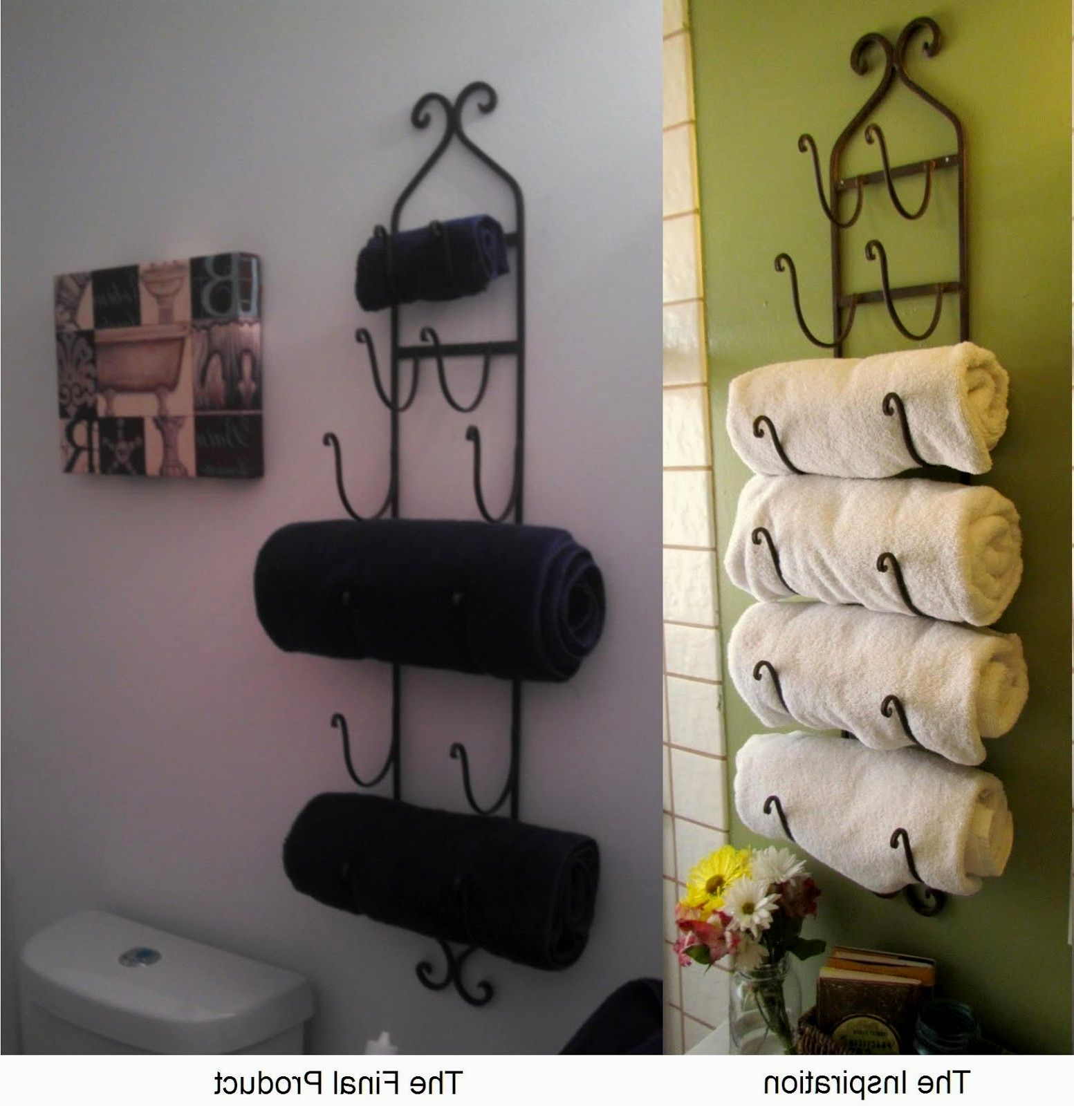 lovely bathroom towel rack picture-Contemporary Bathroom towel Rack Image