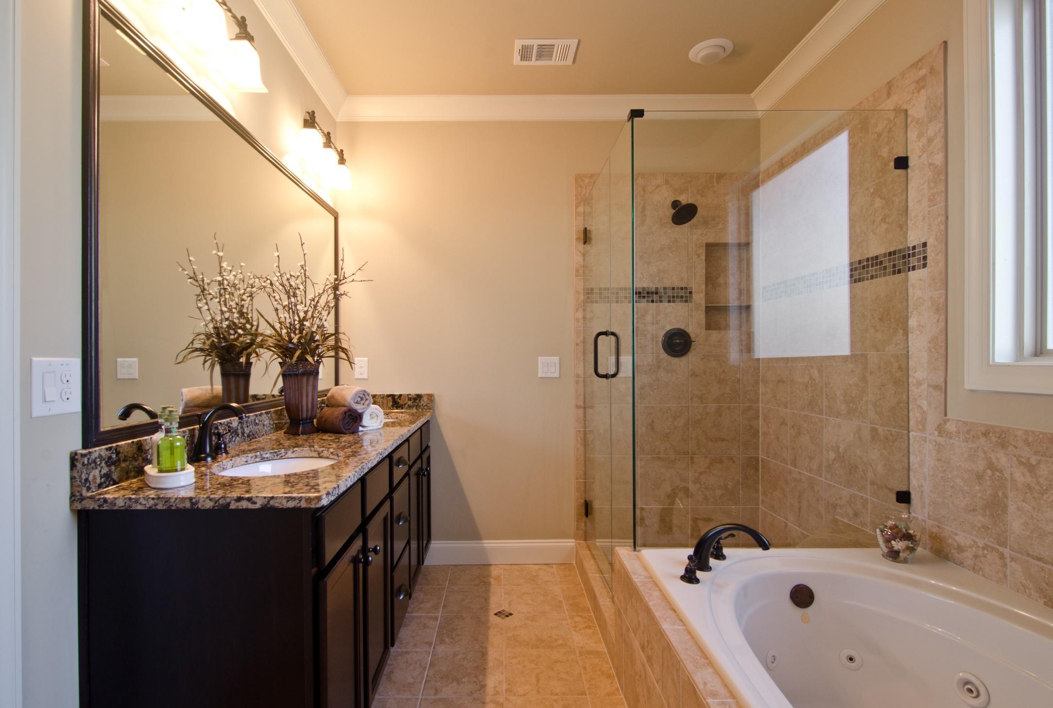 stylish master bathroom remodel construction  home sweet