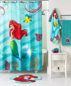 Mermaid Bathroom Decor Elegant Mermaid Shower Curtain for Kids Bathroom Decor with White Small Ideas