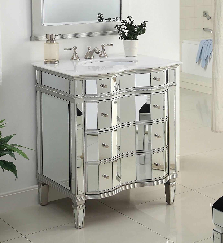 Mirrored Bathroom Vanity Fancy Mirrored Bathroom Sink Vanity Model Bwv ashley Collection