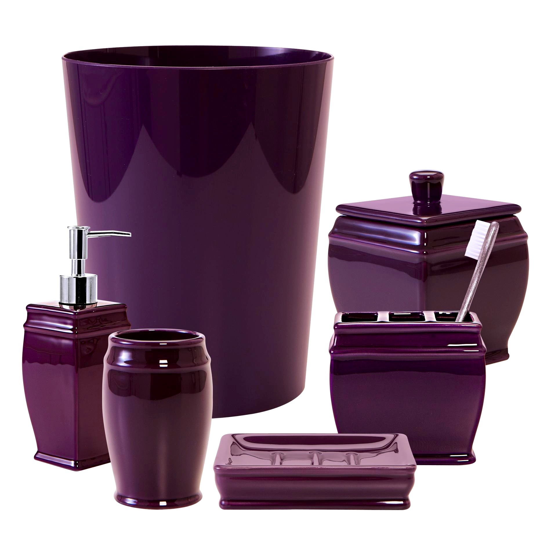 Purple Bathroom Sets Lovely Extraordinary Plum Purple Bathroom Accessories at Collection
