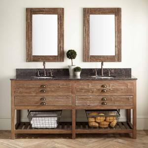 Reclaimed Wood Bathroom Vanity Beautiful Benoist Reclaimed Wood Double Vanity for Undermount Sink Decoration