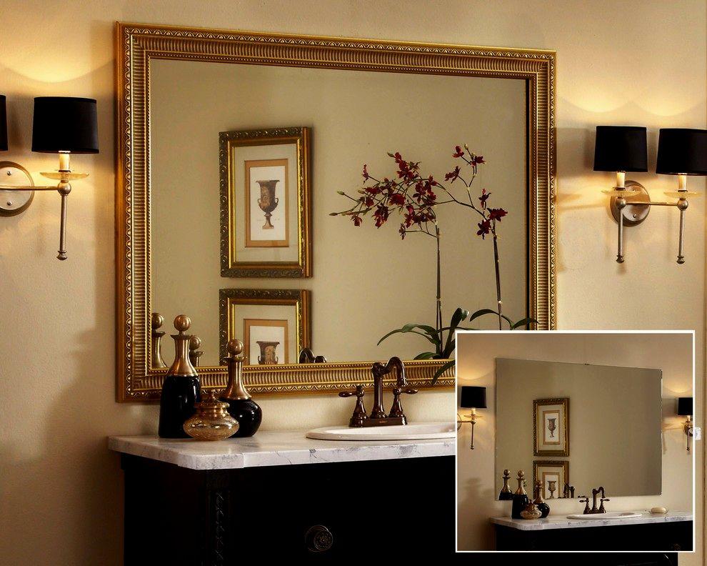 sensational framed bathroom mirrors concept-Stylish Framed Bathroom Mirrors Picture