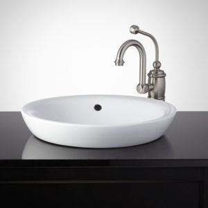Sinks for Bathroom Excellent Milforde Porcelain Semi Recessed Sink Bathroom Photograph