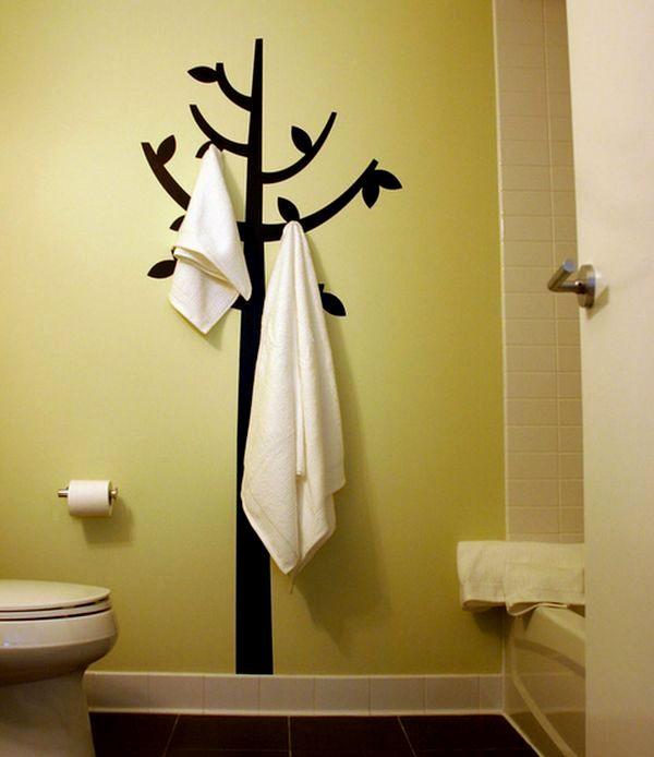 stylish bathroom towel rack decoration-Contemporary Bathroom towel Rack Image