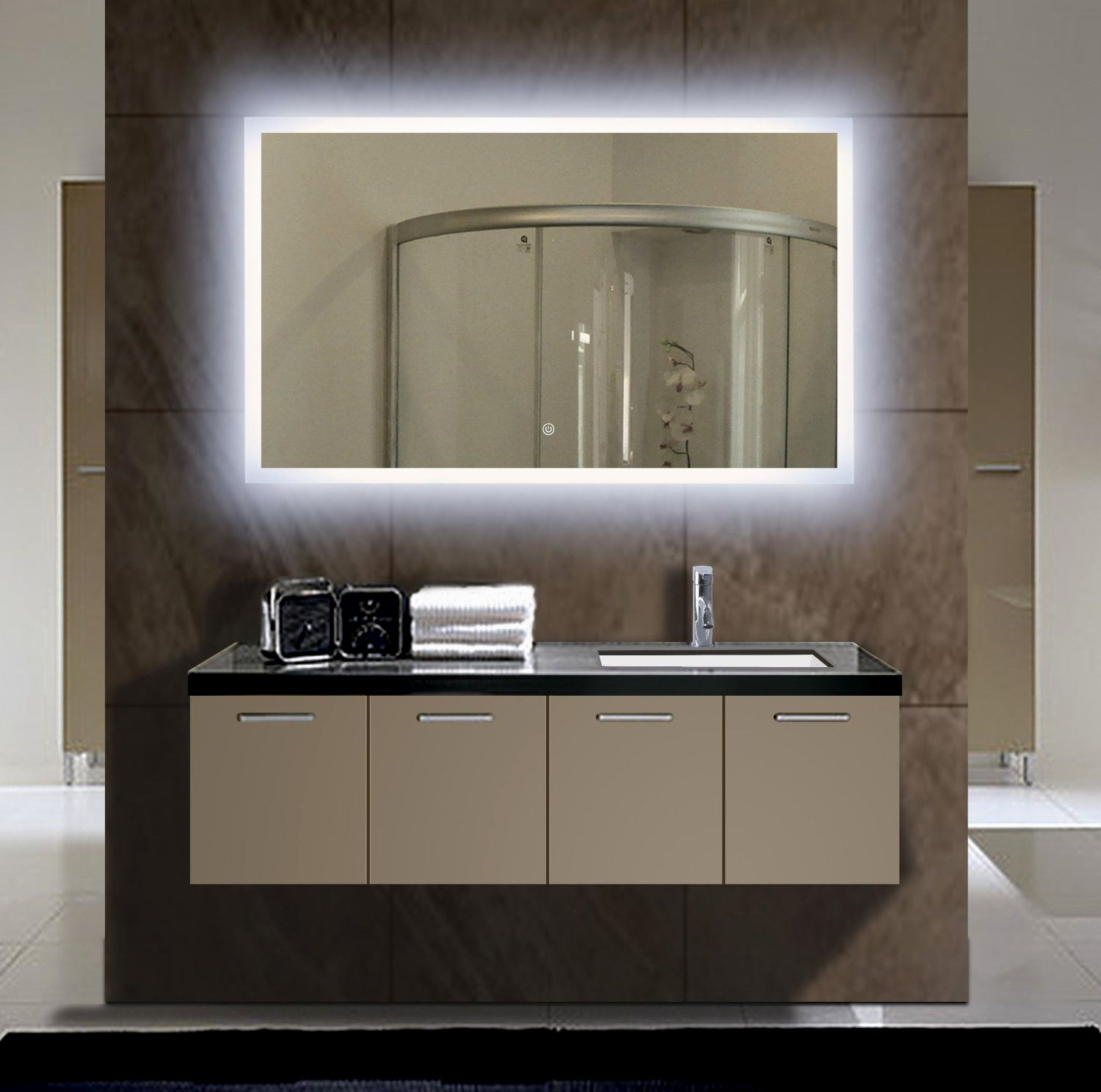stylish lighted bathroom mirror wallpaper-Finest Lighted Bathroom Mirror Layout