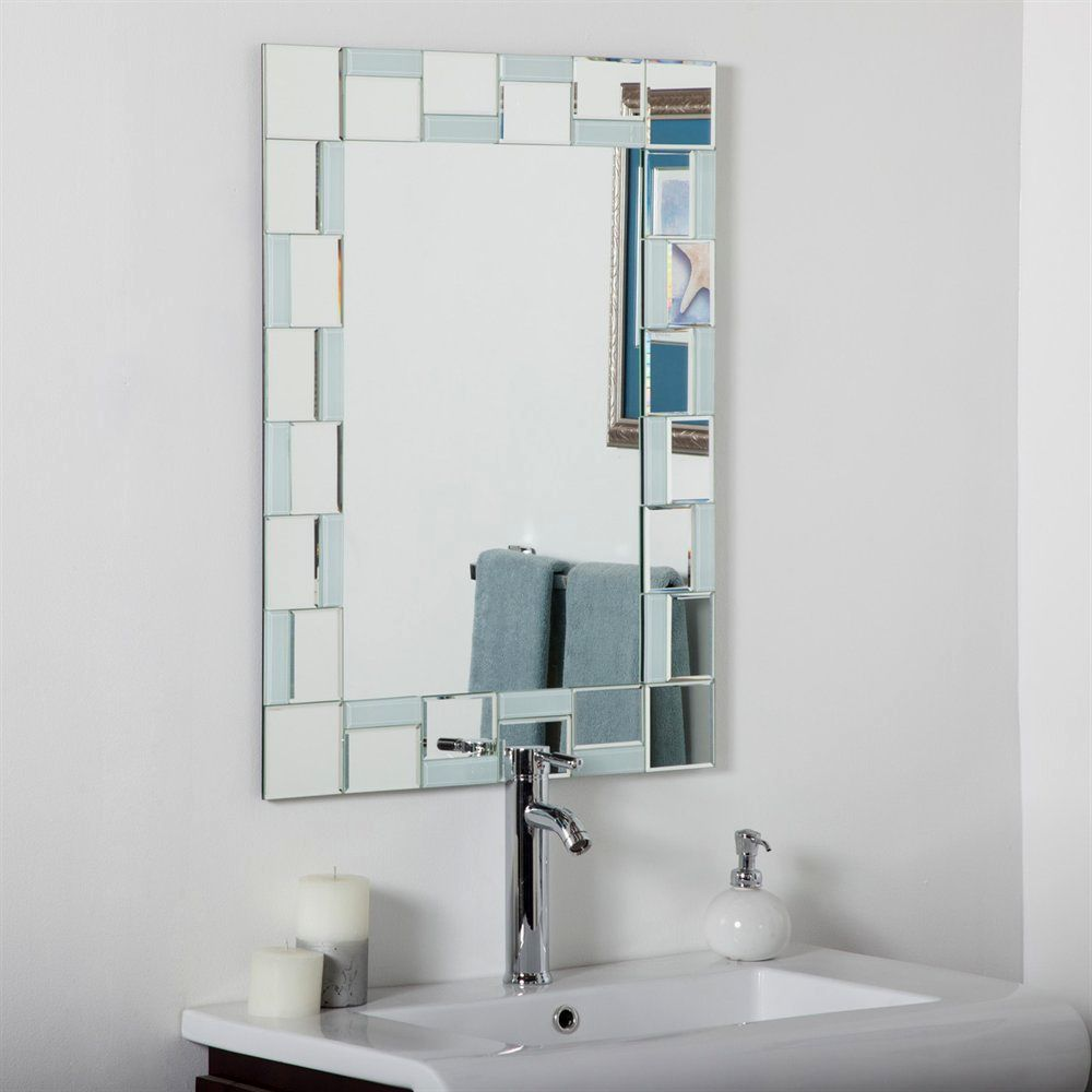 stylish modern bathroom mirrors picture-Beautiful Modern Bathroom Mirrors Image