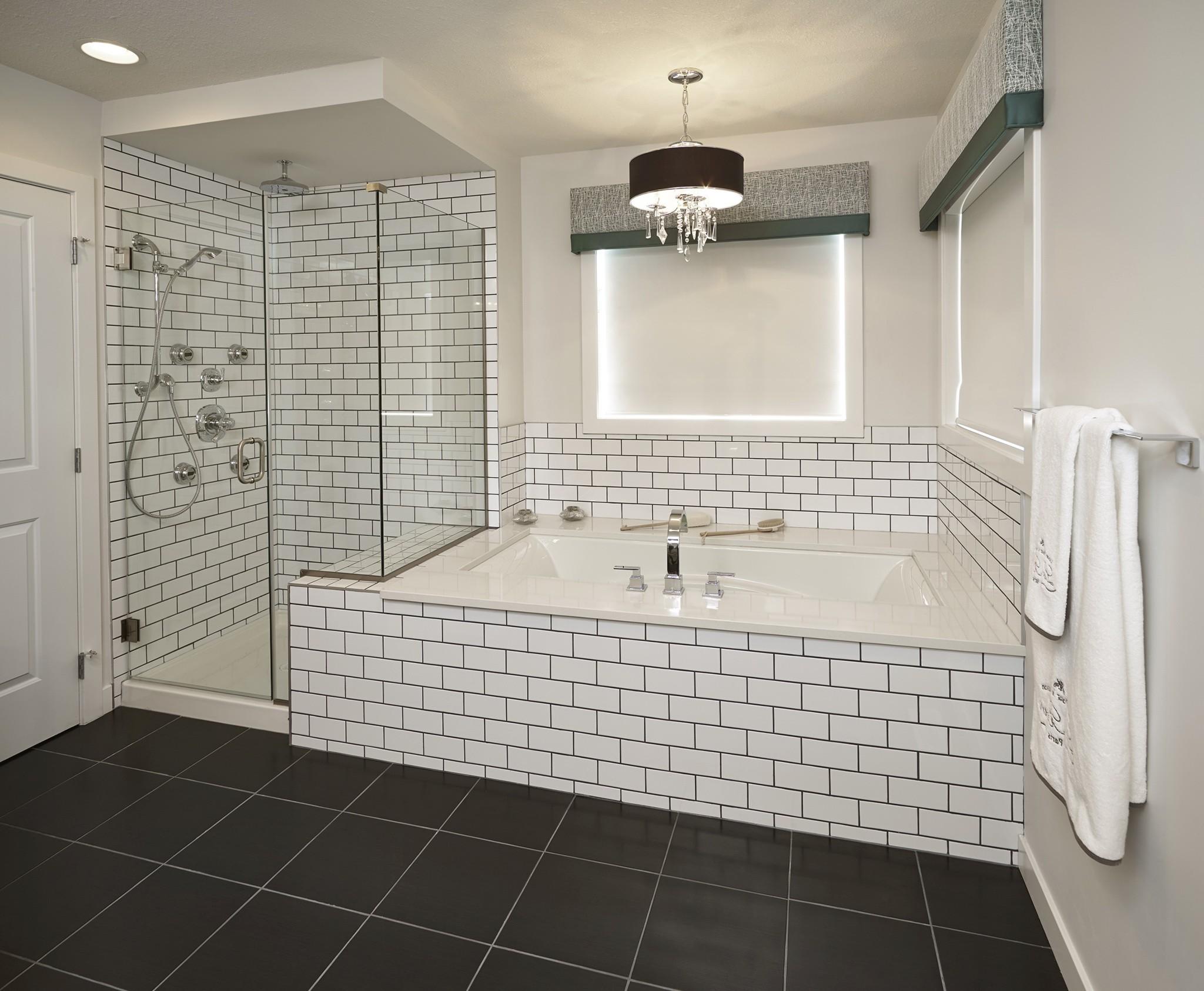 Fancy Subway Tile Bathroom Photo