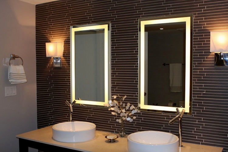 terrific lighted bathroom mirror construction-Finest Lighted Bathroom Mirror Layout
