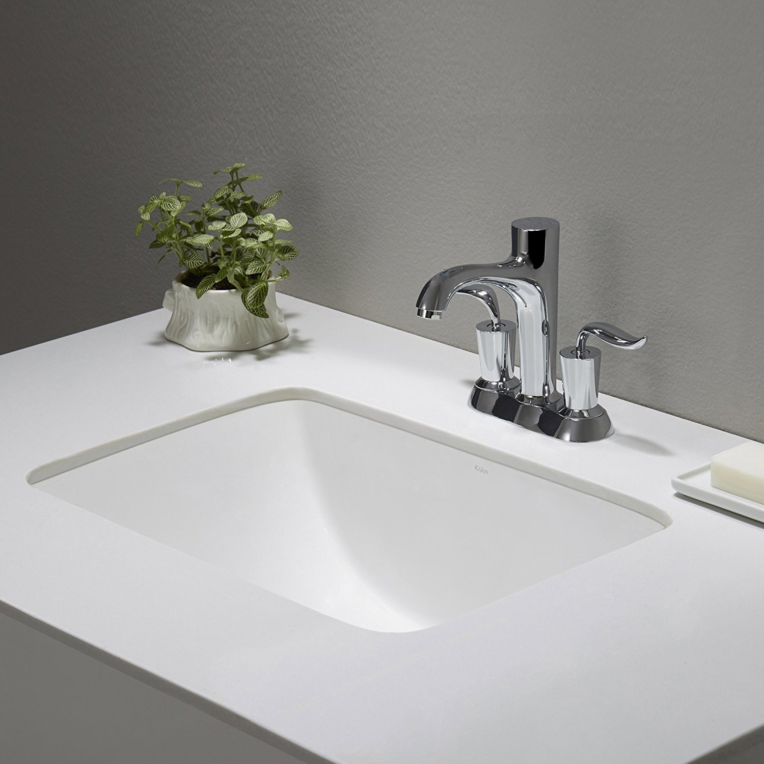 Undermount Bathroom Sinks Wonderful Kraus Kcu Elavo Ceramic Small Rectangular Undermount Bathroom Picture