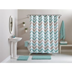 Walmart Bathroom Accessories Terrific Better Homes and Gardens Chevron Piece Bath Set Tealbrown Architecture