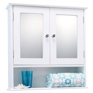 White Bathroom Cabinet Wonderful Double Door White Bathroom Mirror Cabinet Mirrored Bathroom Wallpaper