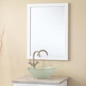 White Bathroom Mirror Fresh Everett Vanity Mirror White Bathroom Design