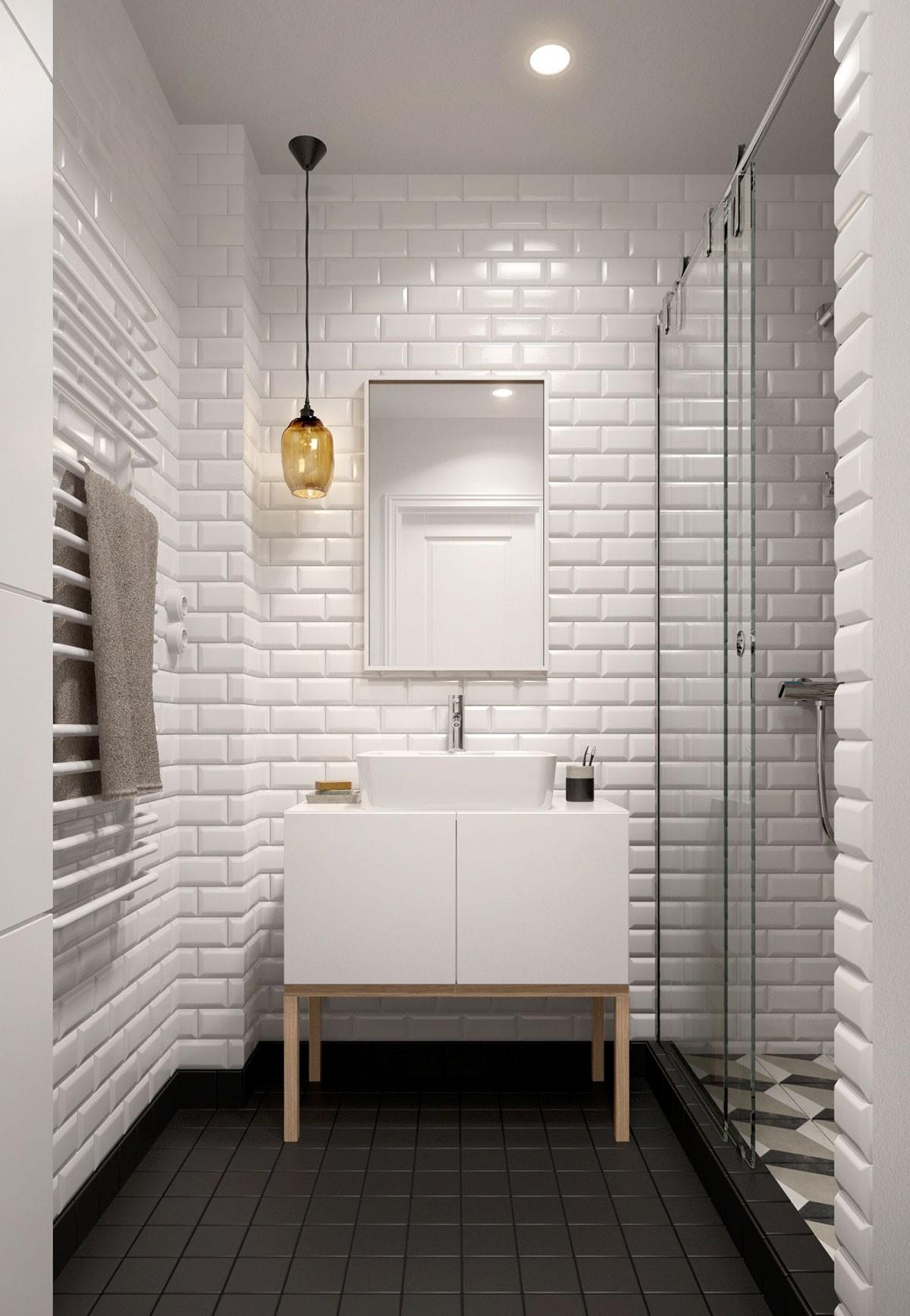 white rectangular tile bathroom Archives - Bathroom Design Ideas ...